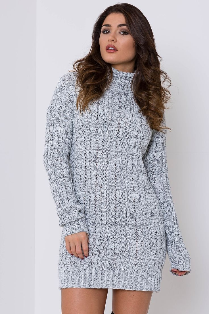 In The Shade Cable Knit Jumper Dress - Dresses - Shop by Category - Clothing | Lasula