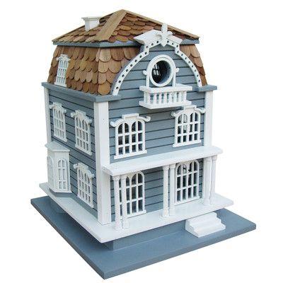 Home Bazaar Victorian Birdhouse with Mansard Roof