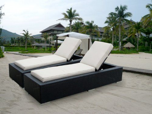 Genuine Ohana Outdoor Patio Wicker Furniture 2 Pc Set Chaise Lounge by Ohana Collection. $1299.00. A combination of contemporary design and comfortable curves.. Beige cushions come with zipper for easy cleaning. 2 pc includes 2 Chaise Lounge Set with BEIGE CUSHION. Brand New All Weather Black Wicker Patio Chaise Lounge Set. Curbside delivery with signature required. All Ohana Collection patio sets are made and sold exclusively by Ohana Depot.  Please confirm you are orde...