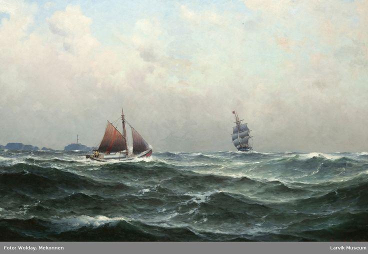 Losbåt ved Geitungen fyr, Skudenes