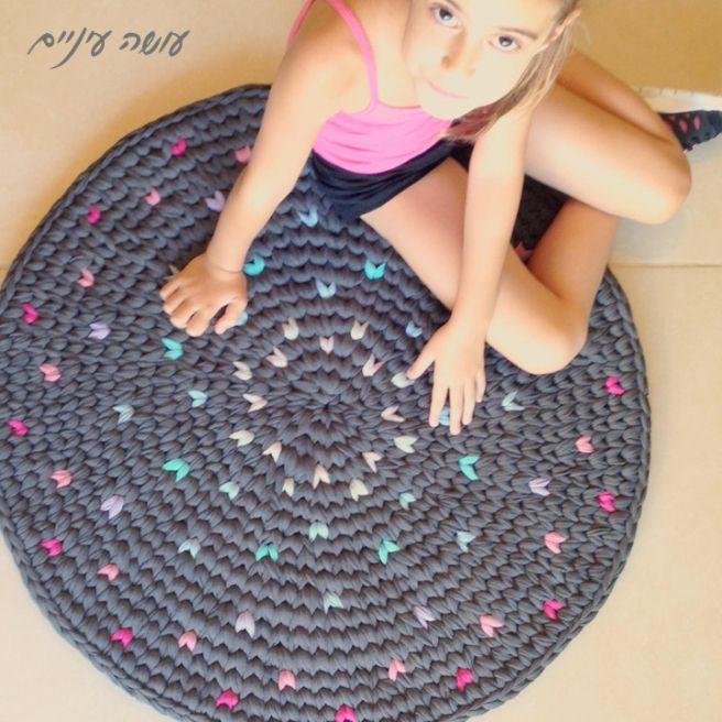 Tappeto farfalla di buono - maglia tappeto filo arazzo - rendendo gli occhi ||  Filato maglietta / Trapillo - Tappeto Tapestry Crochet