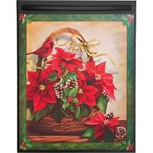 Collections Etc Holiday Poinsettia Basket Dishwasher Magnet