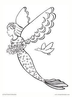 95 best Mermaid Deniz Kz images on Pinterest Draw Coloring