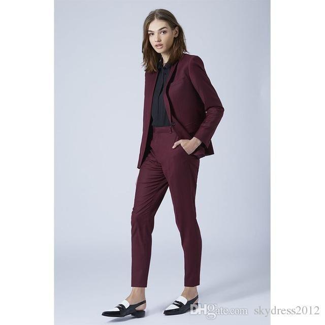 2021 New Grape Womens Business Suits Blazer Set Slim Fit Female Trouser Suits Ladies Office Uniform Elegant Pant Suits From Skydress2012 75 94 Dhgate Com Womens Dress Suits Womens Suits Business Elegant Pants Suits