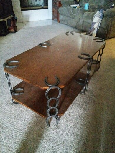 Horseshoe Coffee Table at Jeff~fa~fa's #horseshoes
