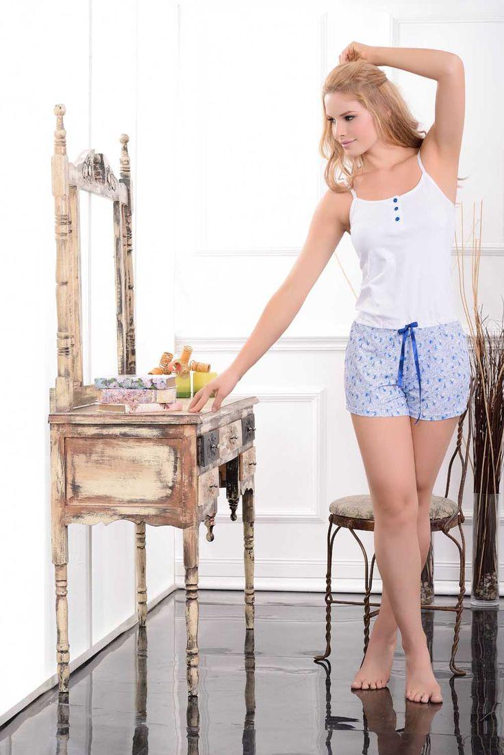 Multiuso / Homewear / 76012 / Fresco y funcional enterizo en algodón spandex estampado, con delicado recogido en la cintura que realza el diseño y botones decorativos en la parte superior Tallas / Sizes / S - M - L - XL