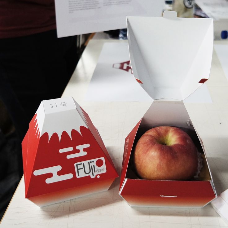 [Entertainment Fruit Packaging] Packaging design for Fuji apple by Maximillian Jonathan (batch 2014, UPH Product Design)