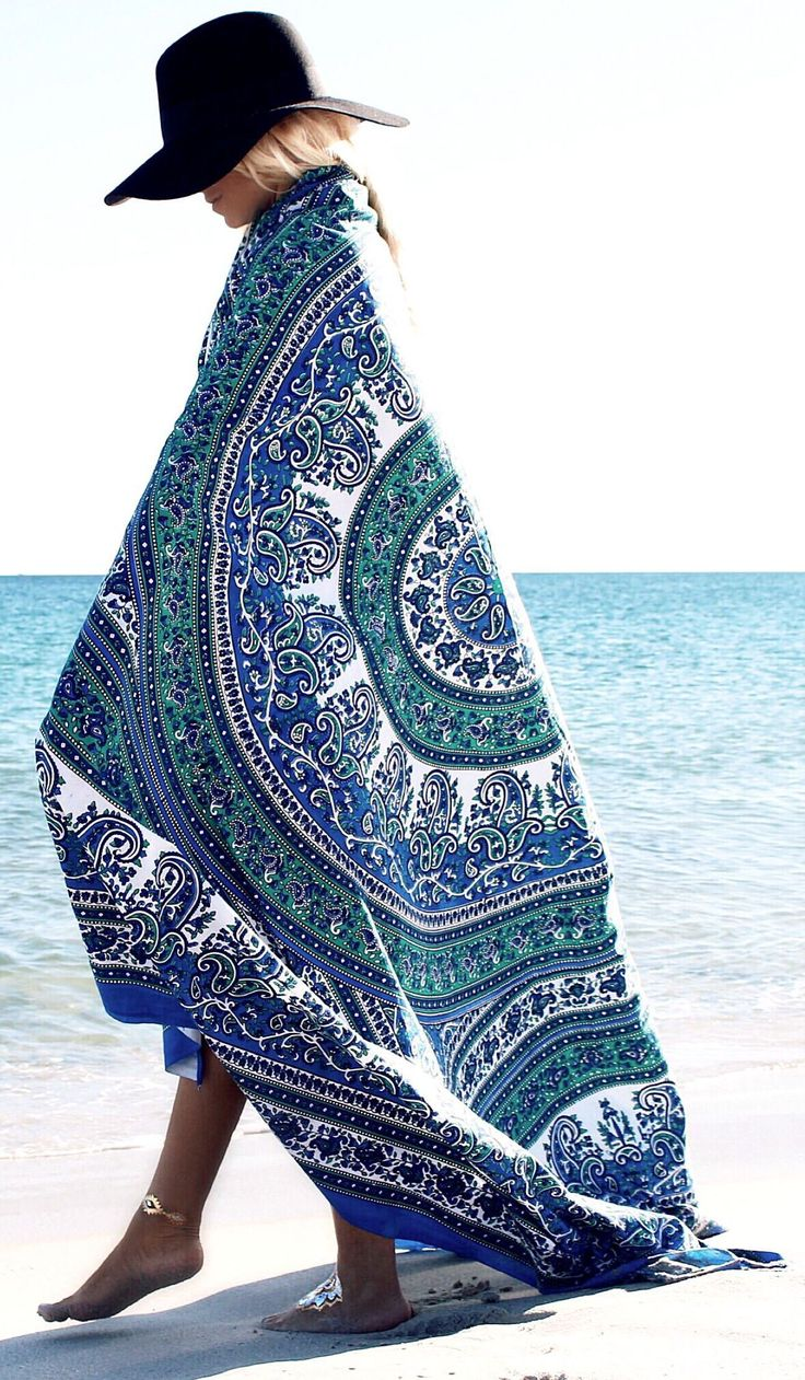 Mandala Design Throw Beach Style