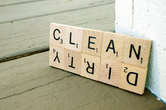 Clean Dirty Dishwasher Magnet Scrabble® Sign | Housewarming, Stocking Stuffer, Wedding, Newlyweds, Welcome Gifts, or Showers