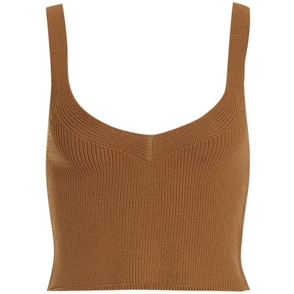 Santa Monica Top - Bardot ❤ liked on Polyvore featuring tops and brown tops