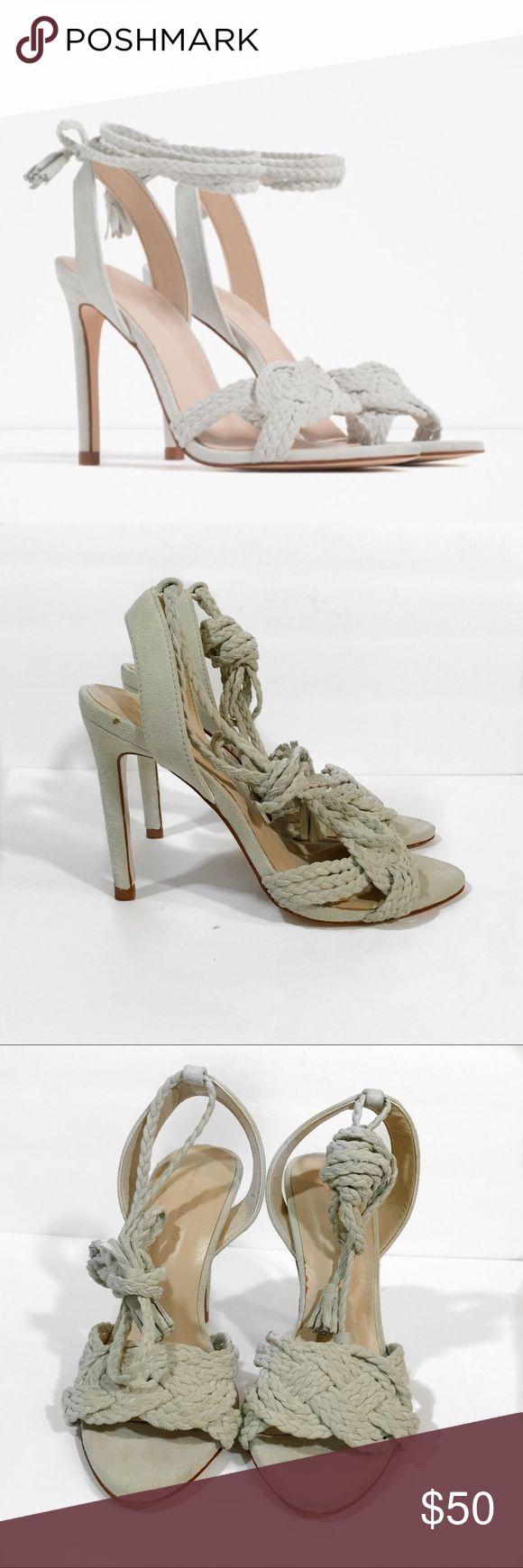 Zara Real Leather Tie Up Heels Zara real leather tie up heels. Size euro 36. Excellent condition. Zara Shoes Heels