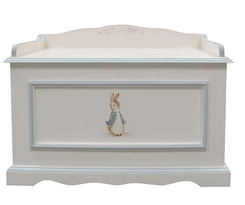 """This charming toy chest is hand painted with the Classic Enchanted Forest motif. It measures 36"""" x 21""""D x 26""""H and is custom made especially for you upon order. Custom made items may not be returned.                                                                                                                                                                                  More"""