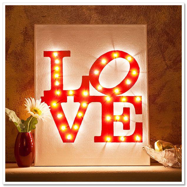 Illuminated LOVE Canvas