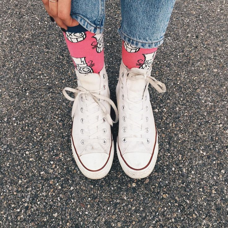 """In my happy socks by graphic artist André ! #HappinessEverywhere"""