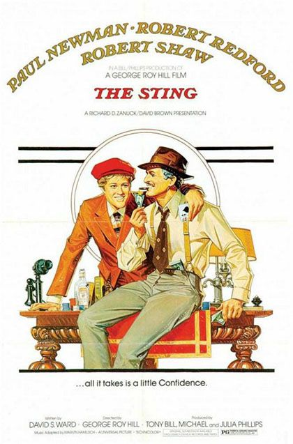 "The Sting received rave reviews and was a box office smash in 1973–74, taking in more than $160 million. In 2005, the film was selected for preservation in the United States National Film Registry as being ""culturally, historically, or aesthetically significant"". The film won seven Academy Awards and received three other nominations and is noted for its use of ragtime music, particularly the melody ""The Entertainer"" by Scott Joplin."