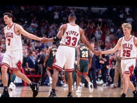 Bulls vs. Sonics - 1996 NBA Finals Game 6 (Bulls win 4th championship) Even though Jordan didn't make it into the major leagues as a baseball player, it was important that he listened to the voice in his head that was telling him to make a change. He returned to the NBA refreshed in 1995 and promptly won three more championships.
