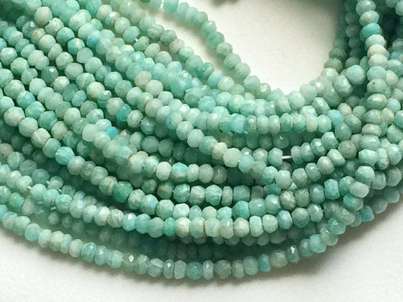WHOLESALE 5 Strands Amazonite Beads Amazonite by gemsforjewels