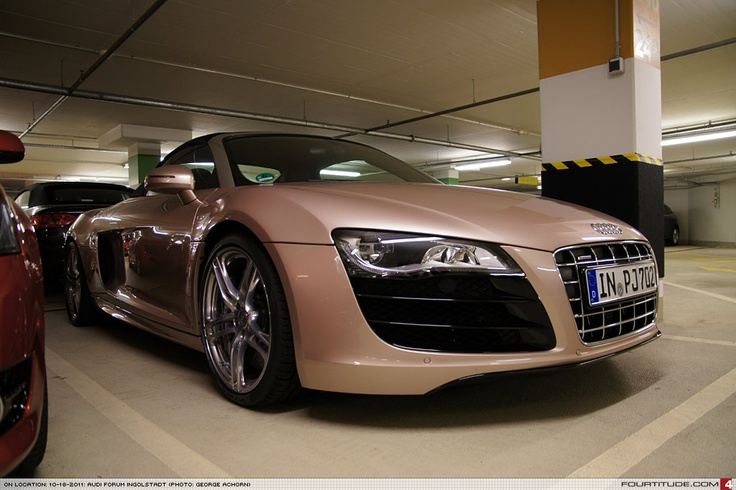 Audi R8 Spyder with custom pink metallic paint from Audi ...