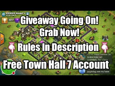 GIVEAWAY GOING ON! Grab Now! Giveaway!Rules In Description! GIVEAWAY GOING ON! Grab Now! Giveaway Rules In Description! HAPPY NEW YEAR LIVESTREAM 2017 - 2018! CLASH ROYALE LIVE STREAM & REVIEW YOUR ACCOUNTS Giveaway Price:- Town Hall 7 Account & SHOUTOUT To Everyone Who Participates For Their YouTube Channel On Next 5 Videos OR Live Streams. Giveaway Rules:- In Short:- Like Subscribe Press Bell Icon & Comment On Latest 5 Videos (Max 2 Comments Per Video).  Like & Comment On Next 5 Videos…