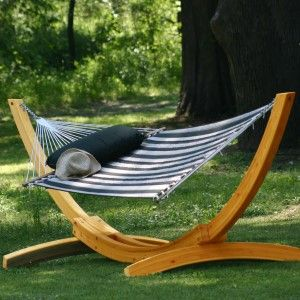 Deluxe Arc Cypress Hammock Stand BY CASUALIFE    Cypress Wooden Frame Sold Separate