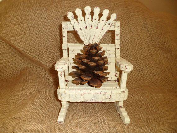Antiquariato arte popolare bambola sedia a dondolo in legno