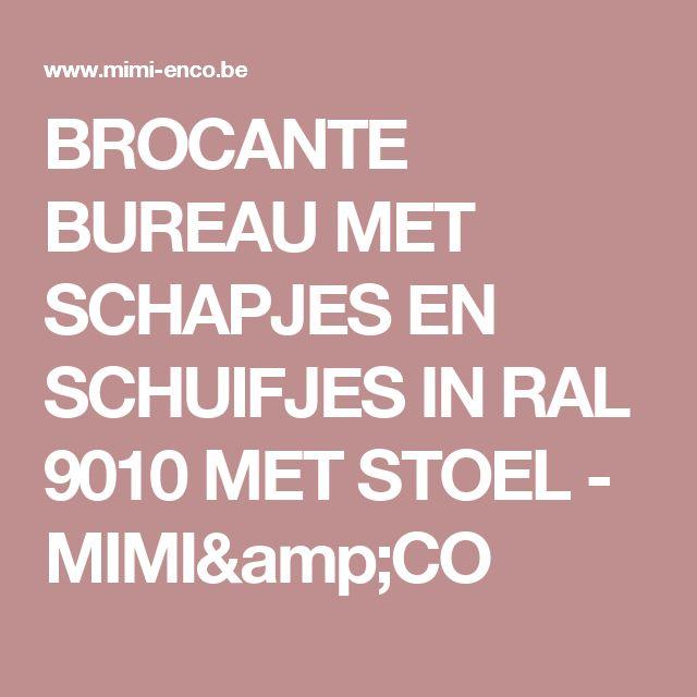 BROCANTE BUREAU MET SCHAPJES EN SCHUIFJES IN RAL 9010 MET STOEL - MIMI&CO
