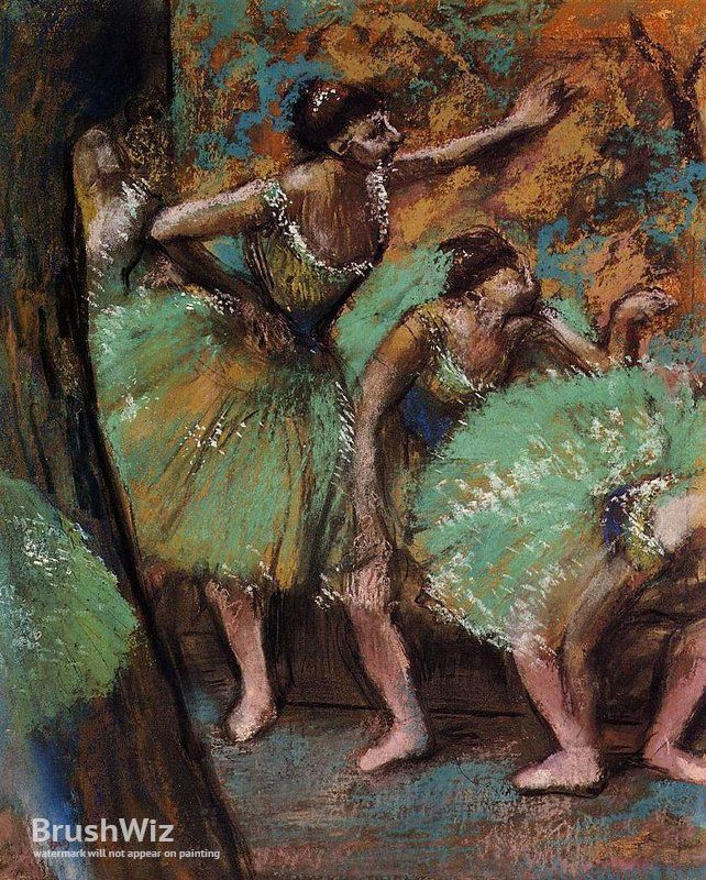 Dancers by Edgar Degas - Oil Painting Reproduction - BrushWiz.com