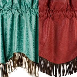 if we do turquoise anywhere this could be a cute valance to go w/ dark brown curtains