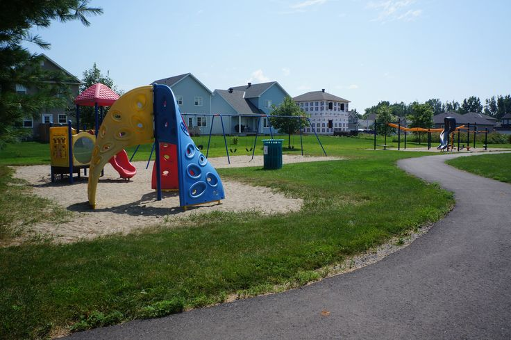 Stiver Park is located just off a new home development in #Russell, Ontario. It has a nice walking path, several play structures, swings and is a great place to play or have a picnic on the green space.