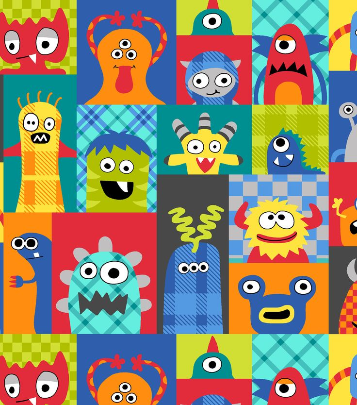 63 best crafts quilting boys inspiration images on for Baby monster fabric