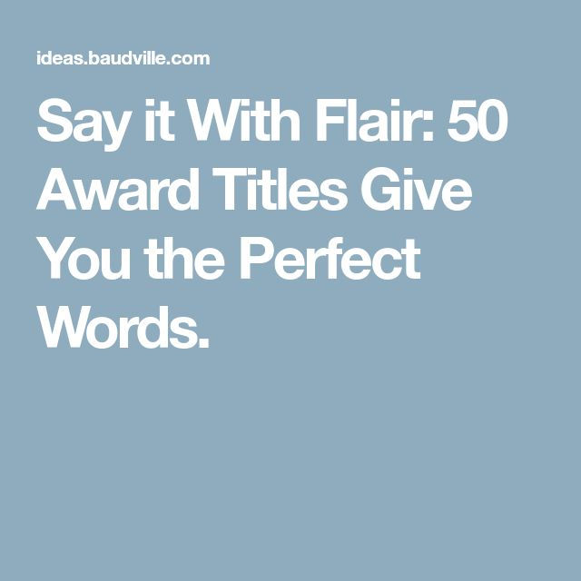 15 best awards and certificates images on pinterest say it with flair 50 award titles give you the perfect words yelopaper Gallery