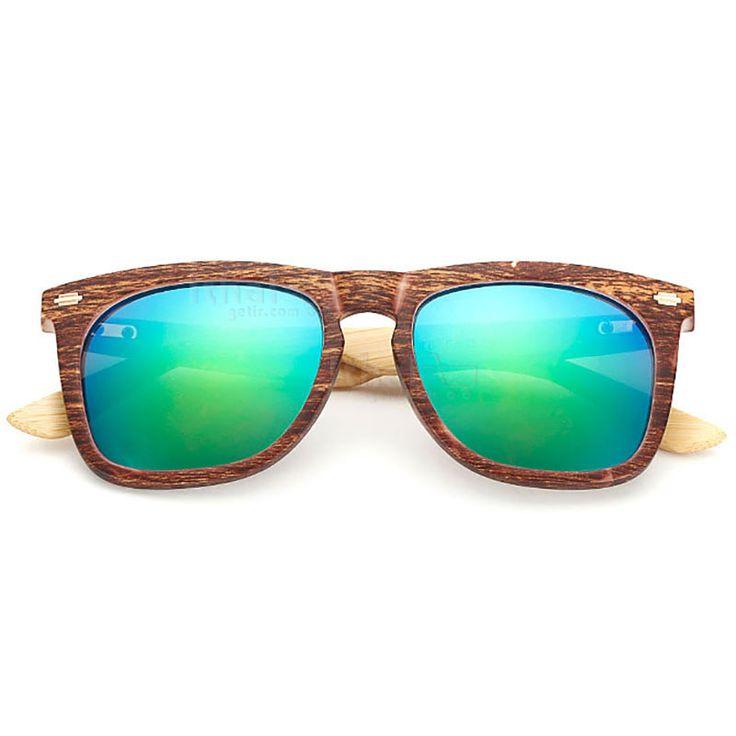 UV400 Korumalı, Gerçek Ahşap Güneş Gözlükleri - IGD090613438 - Vintage Güneş Gözlükleri, Ayna Camlı Güneş Gözlükleri, Bambu Güneş Gözlükleri