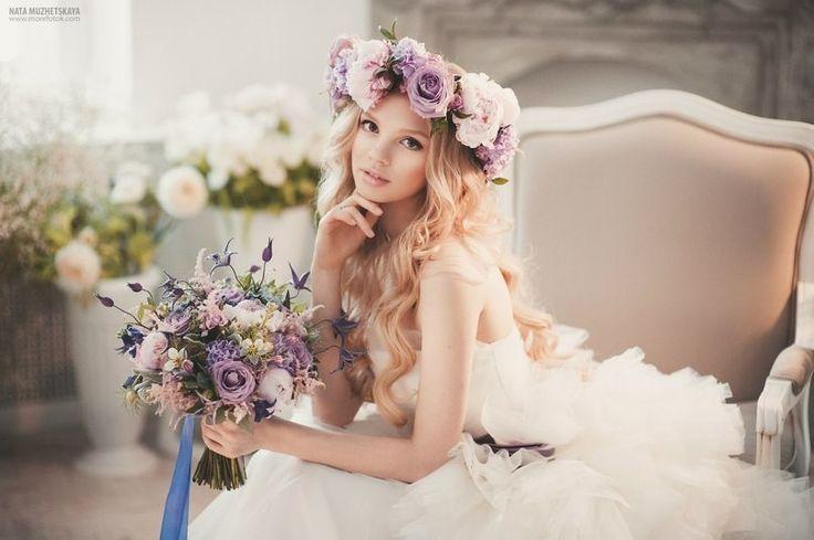 Цветочный венок для невесты: нежно, романтично, оригинально!    #wedding #bride #flowers