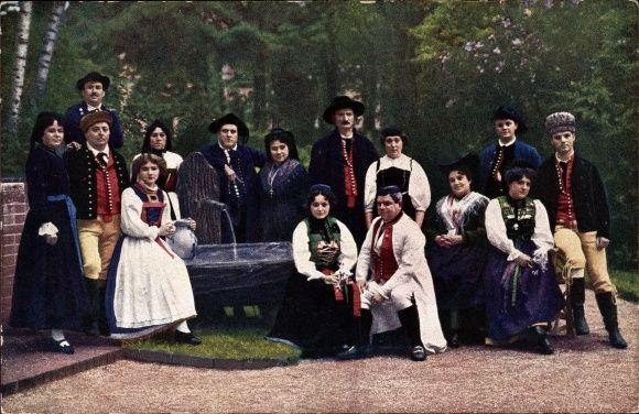 Ansichtskarte / Postkarte Schwäbische Liedergruppe vom Kgl. Hoftheater Stuttgart, C. Kromer