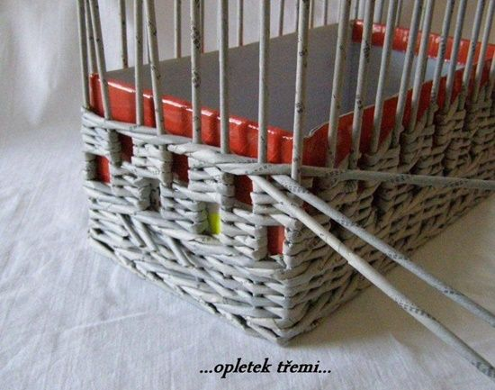 Wonderful DIY Unique Storage Basket From Old Newspaper | WonderfulDIY.com