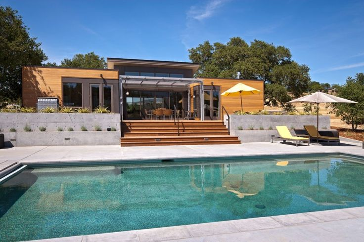 Exterior Design Amusing Backyard Pool And Patio Deck Small Modern