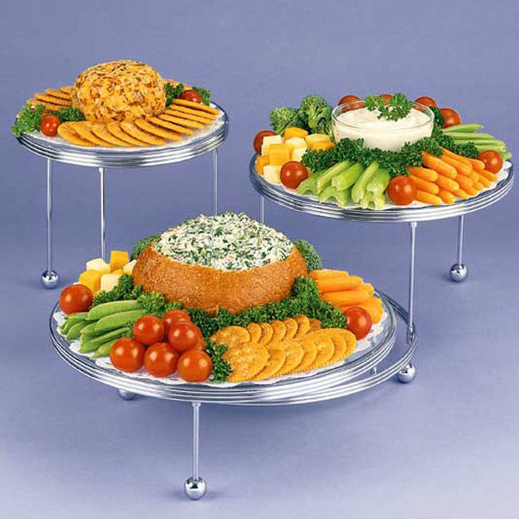 Ideas For Wedding Reception Finger Foods: Use The Cakes ?N More 3-Tiered Party Stand To Create An