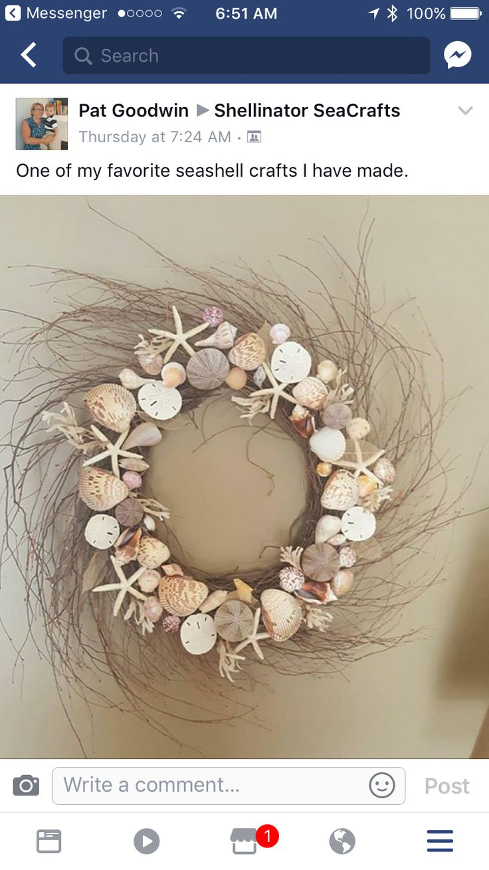 Seashell Crafts, Wreaths, Garlands, Door Wreaths, Deco Mesh Wreaths, Floral  Wreath, Shell Crafts