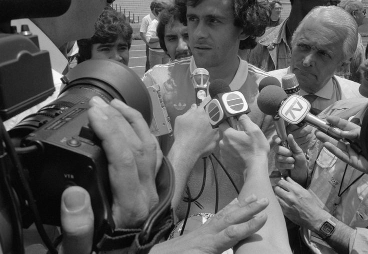 Magnum Photos -  John Vink  MEXICO. Mexico DF. 16/06/86. Mundial '86. Michel PLATINI during an interview before the match France-Italy at the Olympic stadium.