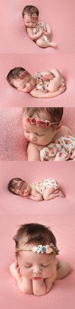 2 week old, baby Kate. Posed, and photographed  in the newborn studio of Moretti photography. An Ankeny / Des Moines, Iowa Newborn, baby, child, family, photographer. Photographed on coral blankets, with shabby chic look.