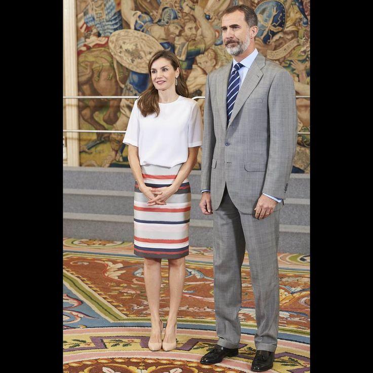 Letizia Et Felipe D'Espagne À Madrid, Le 5 Juillet 2017 9