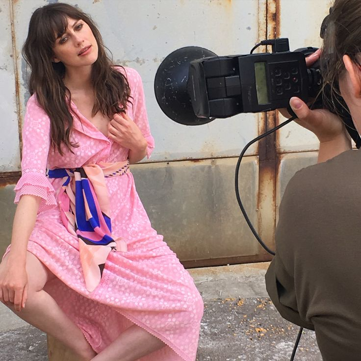Snapshot of a snapshot - for our SS17 campaign #behindthescenes #photo #pink #fashion