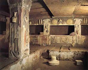 Etruscan Necropolis. 7th Cent BC, Cerveteri, Italy