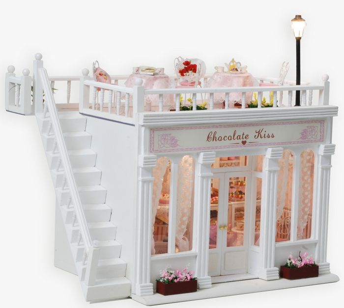 Aliexpress.com : Buy 3D LED LIGHT Dollhouse miniatures The penthouse balcony Honey Time Cake Kit from Reliable kit car lighting suppliers on...