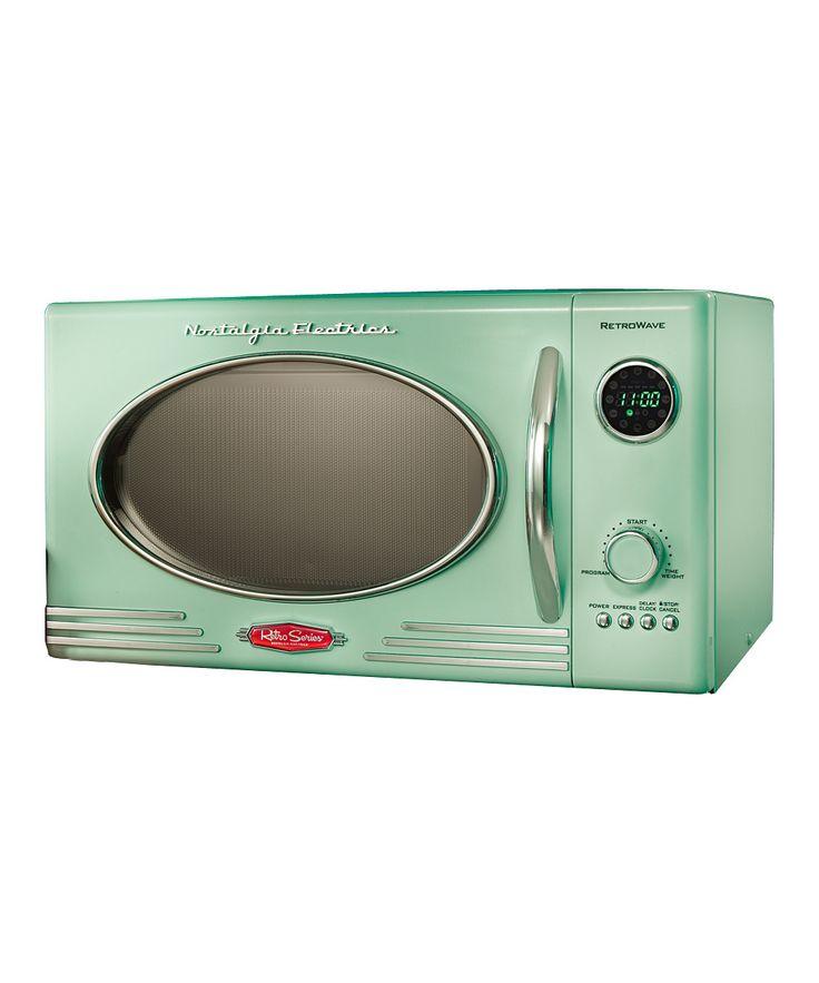 Nostalgia Electrics Green Retro Series Microwave Oven