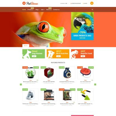 Pet Shop Bootstrap Shopify Template