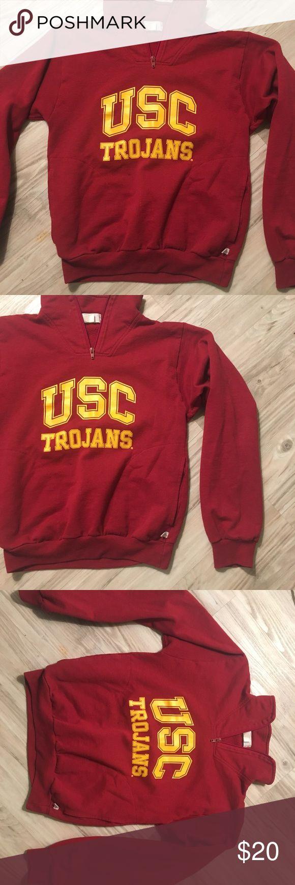 USC XS half zip sweatshirt USC XS sweatshirt with a half zip Sweaters