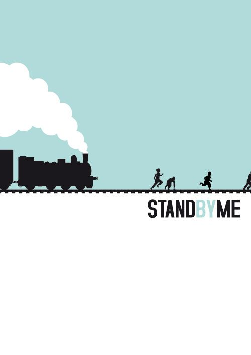 Stand by me. Minimalist Movie Poster