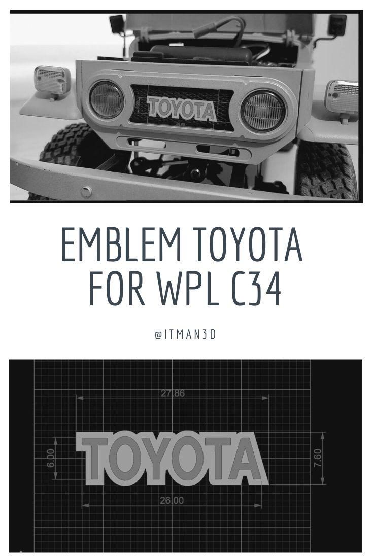 Emblem Toyota Wpl C34 Fj40 Scale116 Rc Car Remove Logo Wpl C 3d