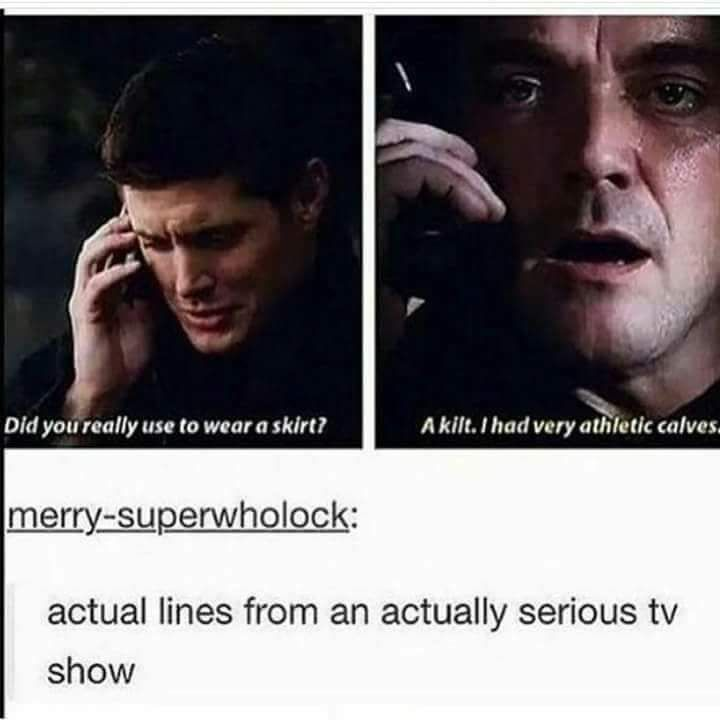 We all know Supernatural is the least serious TV show in the universe.